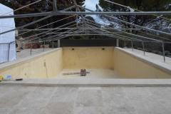 c Préparation du bassin avant stratification