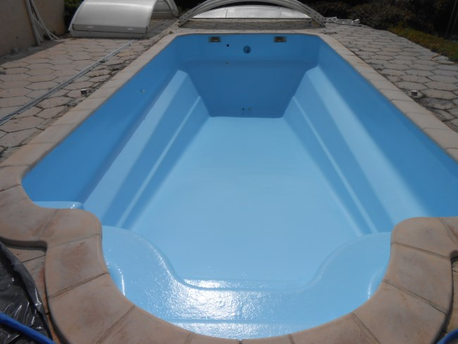 R paration piscine coque osmos e sud resine for Piscine coque polyester avignon