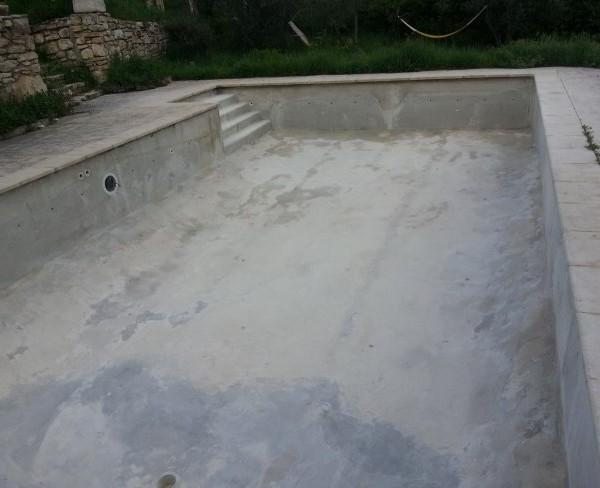 bassin préparé en vue de la  stratification